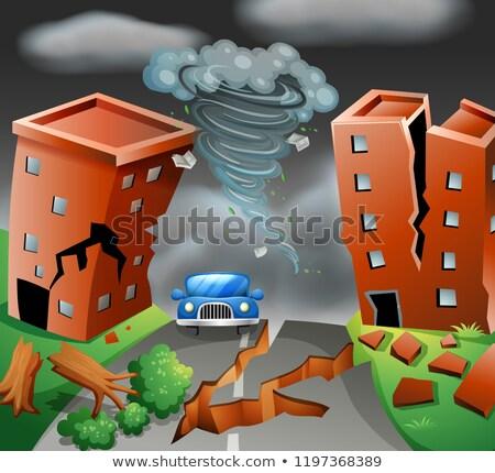 ciclone · tornado · bianco · vettore · tempesta · potere - foto d'archivio © bluering