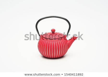 Foto stock: Tradicional · oriental · metal · bule · ferro