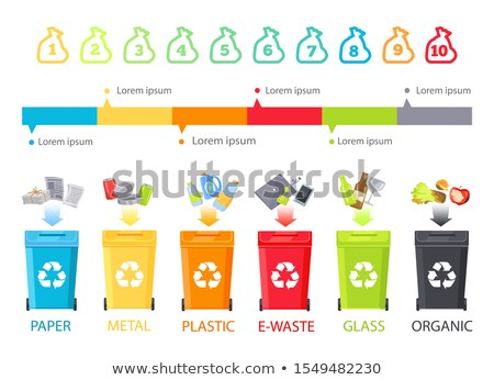 Abstract Rubbish Allocation and Colorful Info Line Stock photo © robuart