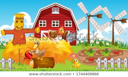 Cartoon Scarecrow Idea Stock photo © cthoman