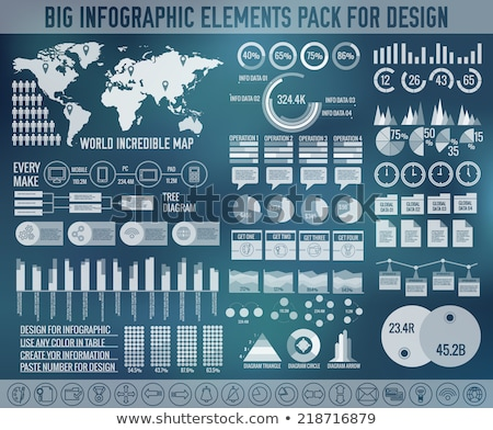 ビッグ · カラフル · セット · インフォグラフィック · ビジネス · 要素 - ストックフォト © linetale