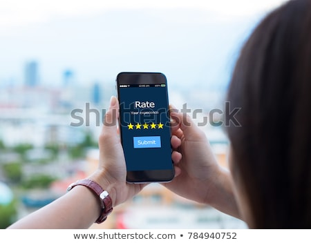 five stars customer quality review marketing and communication stock photo © olivier_le_moal