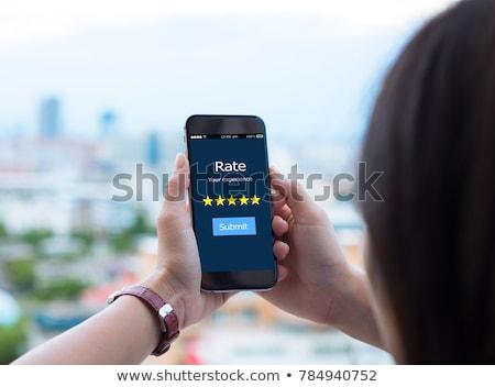 excelente · cinco · estrellas · cliente · evaluación · satisfecho - foto stock © olivier_le_moal