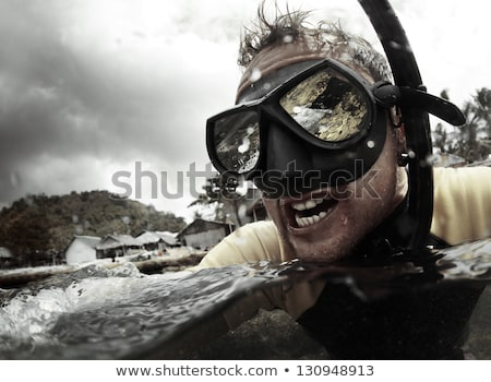 Angry Scuba Diver Stock photo © cthoman