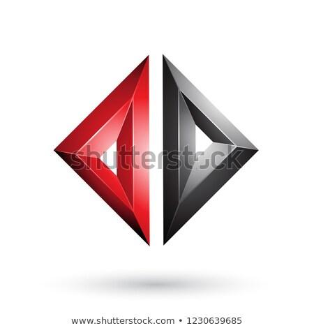red and black frame like embossed diamond shape vector illustrat stock photo © cidepix