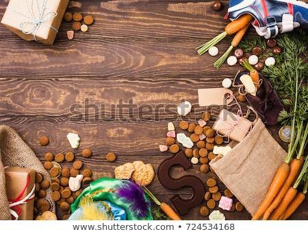 Holland ünnep üdvözlőlap marcipán disznó hagyományos Stock fotó © Melnyk