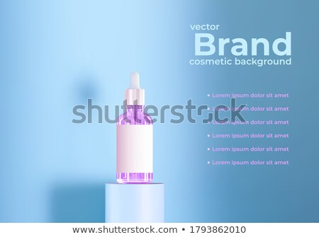 Cosmetic Glass Branding Background Vector. Luxury, Fashion. Fragrance, Collagen. Face Care. Bottle.  Stock photo © pikepicture