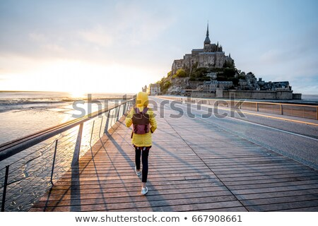 Road to Mont Saint Michel ,Normandy. France Stock photo © doomko