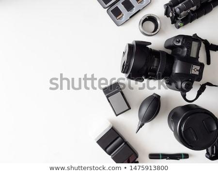 elektronica · camera · vector · ingesteld · zwarte - stockfoto © robuart