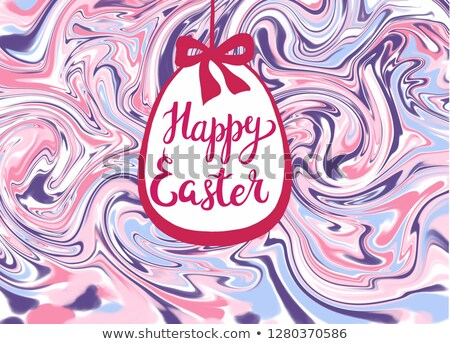 Textúra kalligrafikus felirat kellemes húsvétot húsvéti tojás illusztráció Stock fotó © Margolana