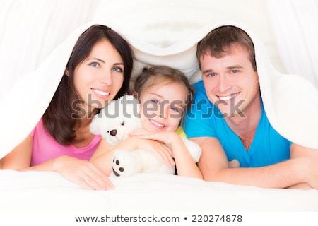 Père bébé fille Nounours maison famille Photo stock © dolgachov