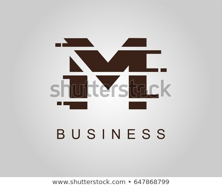 Stock photo: brown letter m logo vector icon