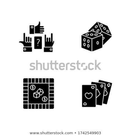 Juego clipart dados vector logo icono Foto stock © blaskorizov