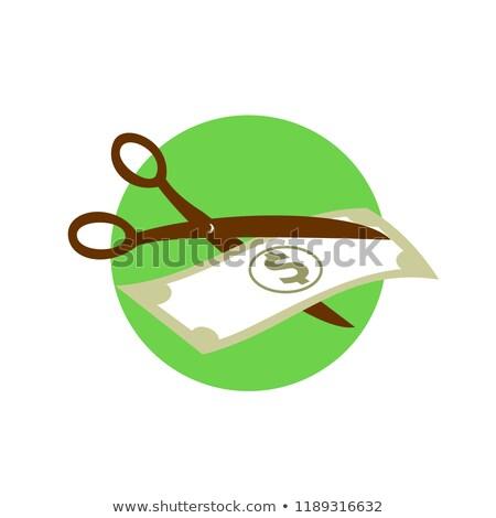 Cutting Dollar Bill With Scissors Retro Stock photo © patrimonio