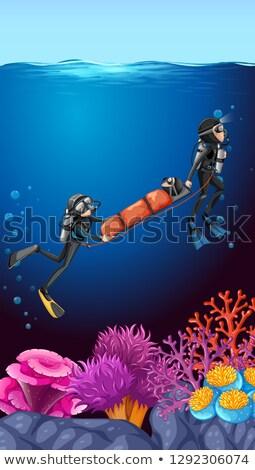 Vízalatti alámerülés óceán illusztráció tenger háttér Stock fotó © bluering