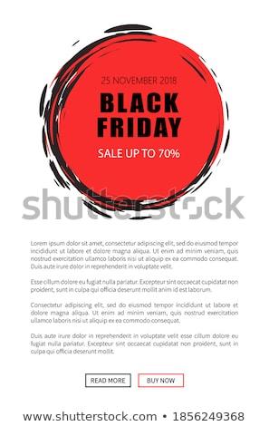 black friday sale on 25 november 2018 save tag stock photo © robuart