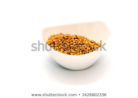 Bee Pollen Propolis In White Bowl Isolated Stock photo © ThreeArt