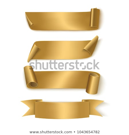 retro gold ribbons and banners on white background stock photo © pravokrugulnik