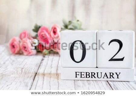 Kockák naptár második piros fehér ikon Stock fotó © Oakozhan