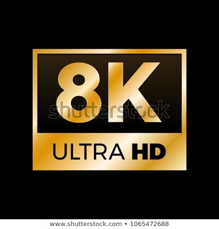 3d golden 8k ultra text Stock photo © ribah