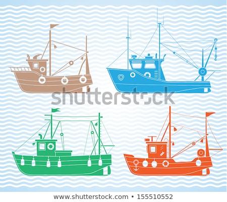 морской морской тип транспорт рыбалки Сток-фото © robuart