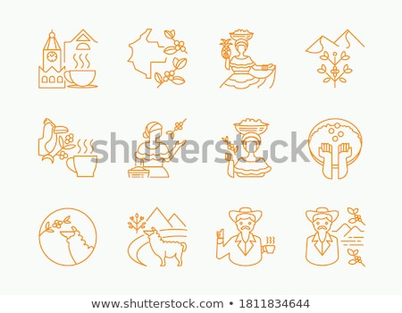 Woman and Farmer Icons Set Vector Illustration Stock photo © robuart