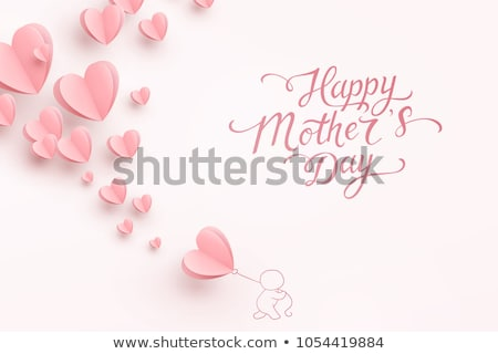 3d heart calligraphic design of happy mother's day Stock photo © nasirkhan