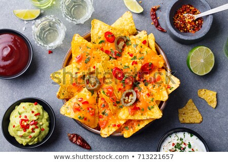 mexicano · nachos · chips · tequila · salsa - foto stock © furmanphoto