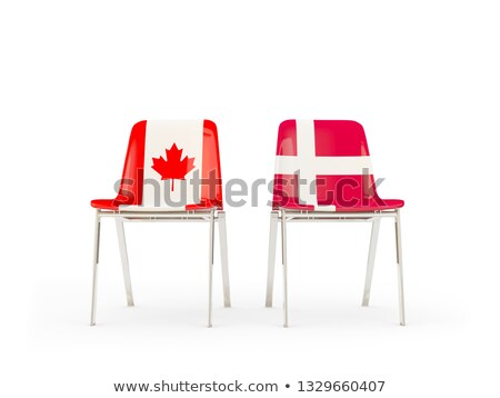 two chairs with flags of canada and denmark stock photo © mikhailmishchenko