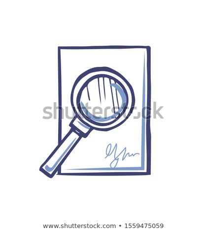 Magnifying Glass on Empty Sheet of Paper Signature Stock photo © robuart