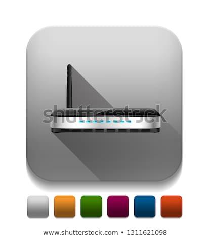 Wifi Wireless Network icons over app button. vector illustration Stock photo © kyryloff
