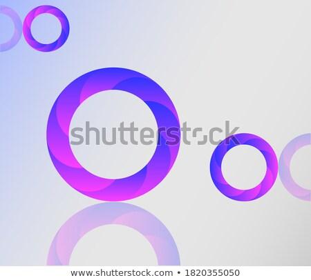 Magenta 3D redemoinho forma vetor Foto stock © cidepix