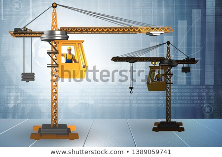Crane operator in economic growth concept Stock photo © Elnur