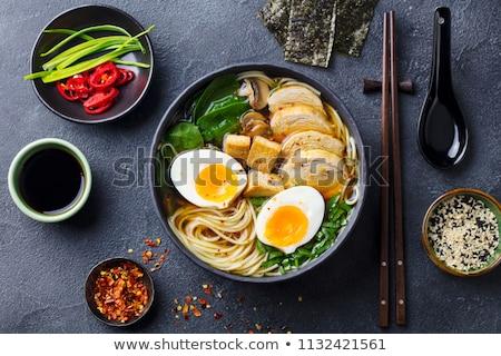 ízletes ramen kreatív étel diéta egészséges étkezés Stock fotó © Fisher