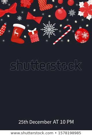Christmas Party Join Us Poster with Text Sample Stock photo © robuart