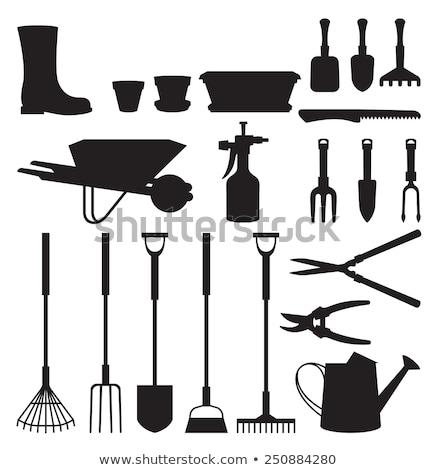 Hoe flat vector icon. Garden Equipment Stock photo © nosik