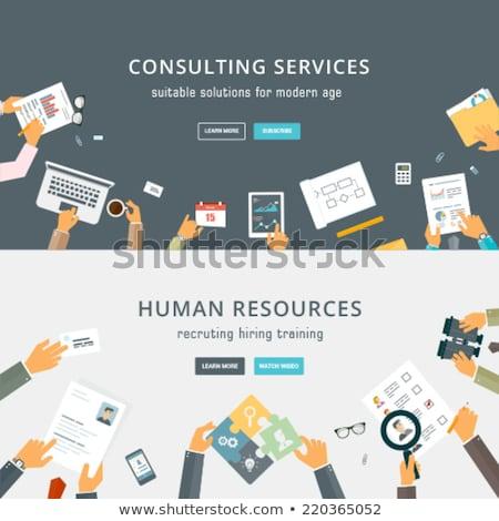 çalışma süreç ikon insan kaynaklar yönetim Stok fotoğraf © ussr