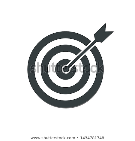 Icon of dartboard with arrow for investment  target or goals Stock photo © ussr