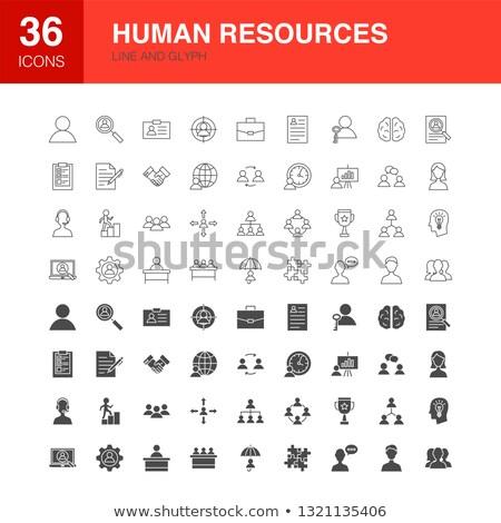 Humaine ressources ligne web icônes affaires Photo stock © Anna_leni