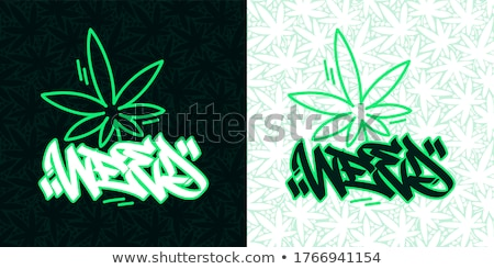 Homme weed fumer illustration marijuana commune Photo stock © lenm