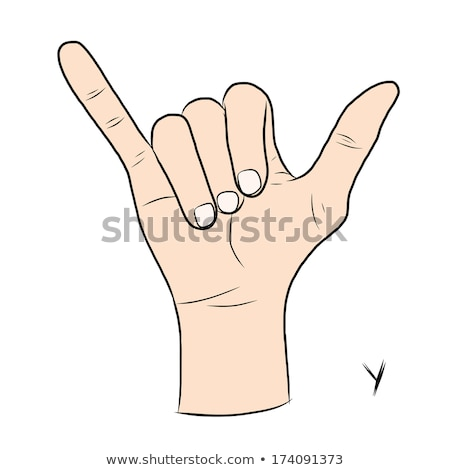 hand demonstrating y in the alphabet of signs stock photo © vladacanon