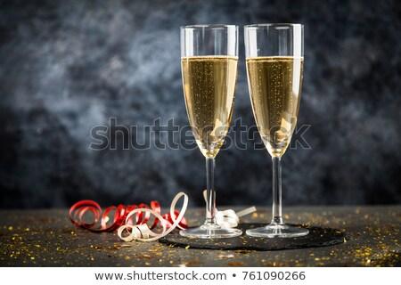 zestaw · szampana · okulary · biały · wody · grupy - zdjęcia stock © karandaev