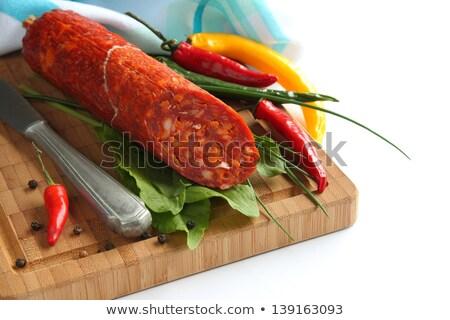 Espanhol chorizo salsicha brócolis Foto stock © Melnyk
