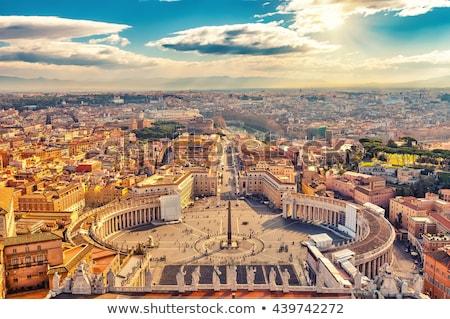 Saint carré vatican Rome Italie au-dessus Photo stock © neirfy