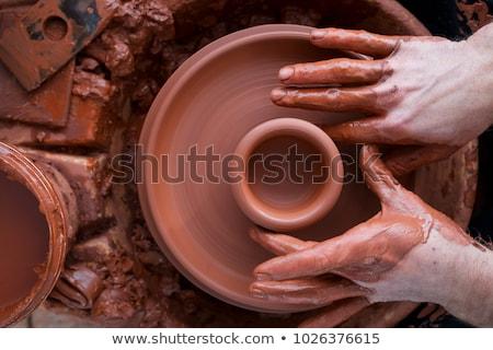 молодые · ремесленник · Керамика · колесо - Сток-фото © pressmaster