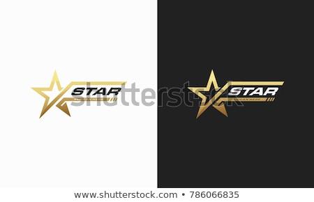 Csillag logo grafikai tervezés sablon vektor sport Stock fotó © haris99