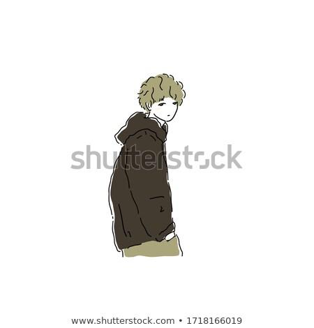 Dauer haj szett fiú vakáció stressz Stock fotó © toyotoyo