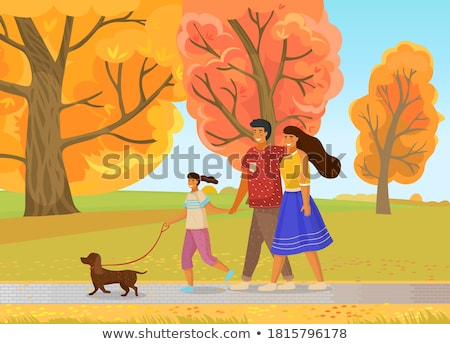 Group Of 3 Children Realxing Outdoors In Autumn Landscape Stock photo © monkey_business