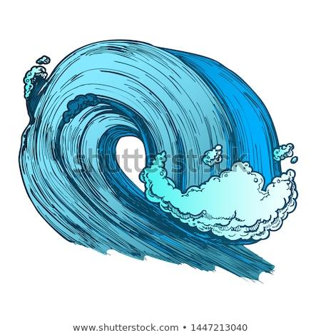 büyük · köpüklü · tropikal · okyanus · deniz · dalga - stok fotoğraf © pikepicture