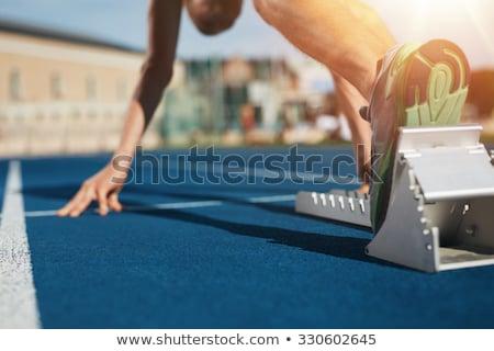 Sapatos atleta corredor pé corrida Foto stock © Freedomz